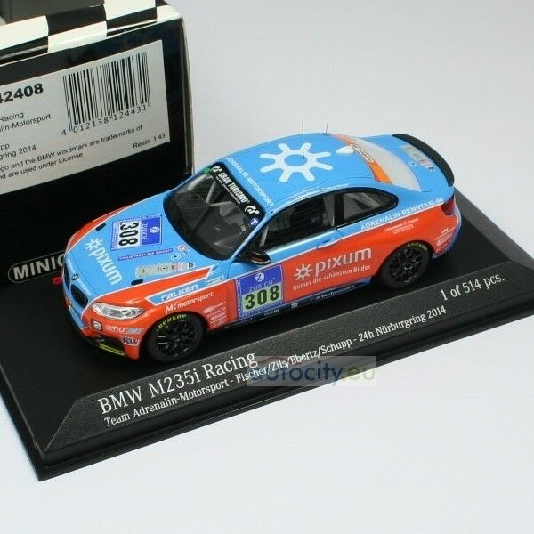 MINICHAMPS BMW M 235I RACING - TEAM ADRENALIN-MOTORSPORT- ZILS FISCHER 437142408