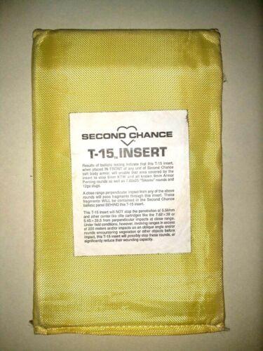 "SECOND CHANCE T-15 Ballistic Plate Insert Level II 5/"" x 8/"""