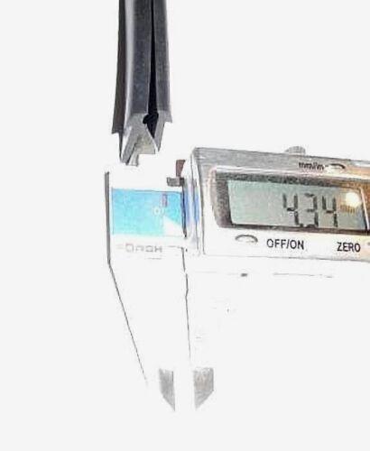 Fassungsprofil EPDM mit Nasen Maße 4,34x9,95x12,16x17mm Meterware