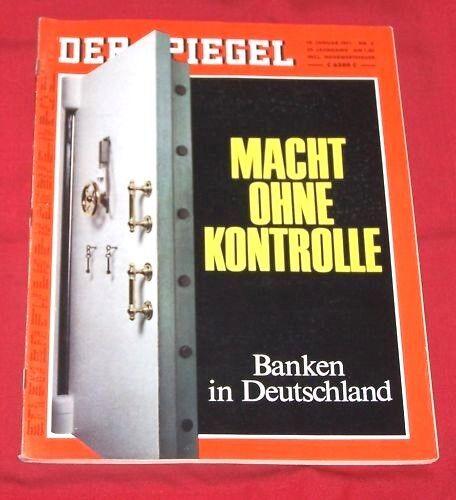 Der Spiegel 1971 Nr  4 vom 18.01. , Macht ohne Kontrolle - Banken in Deutschland