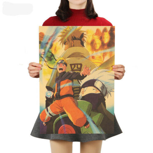 Classic Naruto Anime Art Kraft Paper Cafe Retro Poster Decorative Painting