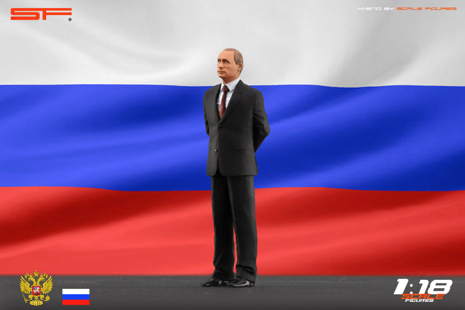 1:18 Vladimir Putin VERY RARE!!! figurine NO CARS !! for diecast collectors