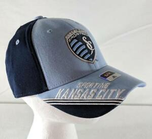 bcd90919bde Details about LZ Adidas S M Fitted Kansas City Sporting Soccer MLS Baseball  Cap Hat NEW 16