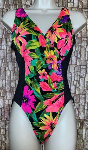 Vintage La Playa Viva 1 Piece Swimsuit 70s/80s Flo