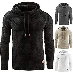 Plus-Size-Men-039-s-Winter-Hoodie-Warm-Hooded-Sweatshirt-Coat-Jacket-Outwear-Sweater