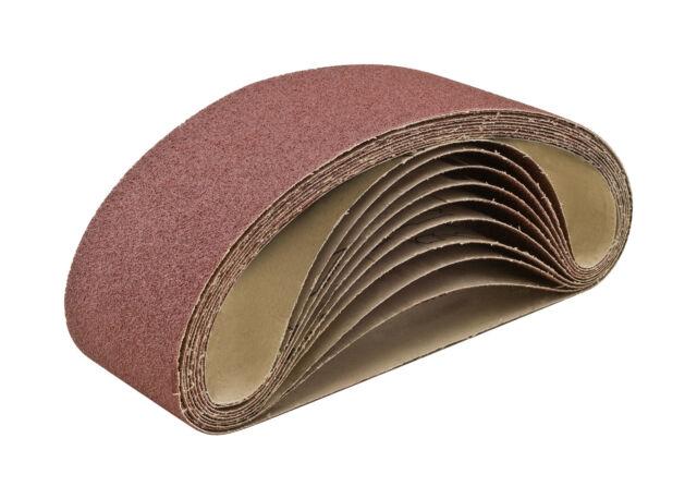 "3/"" x 21/"" Aluminum Oxide Sanding Belts 36 Grit XBacking USA 10 Pack CGW 61178"