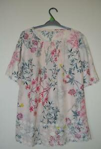 NEW-EX-M-amp-S-UK-SIZE-8-10-12-14-16-18-20-PALE-SALMON-PINK-FLORAL-PRIN-BLOUSE-TOP