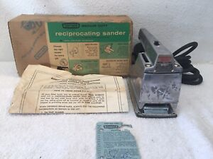 Vintage-1962-Sears-Craftsman-Reciprocating-Sander-Tool-Md-110-7660-USA