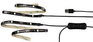 1Set-TV-LED-LICHT-HINTERGRUNDBELEUCHTUNG-2Streifen-60-LEDs-fuer-Monitor-Fernseher