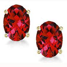 e708392dc Palmbeach Jewelry .76 TCW Genuine Ruby Stud Earrings in 10k Yellow ...