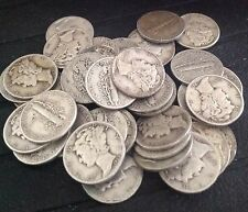 Lot of Twenty (20) Mercury Dimes (1916-1945) - Free Shipping! Free Dime Offer!