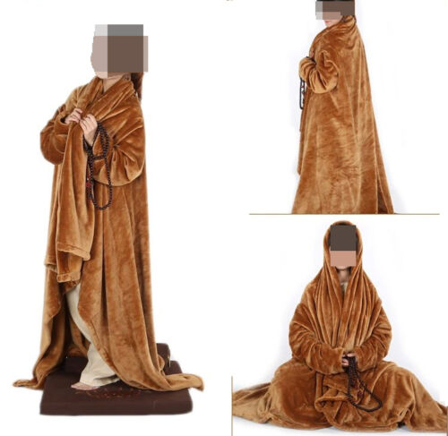 winter Warm meditation cloak flannel blanket zen cape monk Lay shawl//yogacarpet