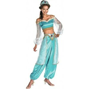 Image is loading JASMINE-from-Aladdin-Adult-Deluxe-Prestige-Disney-Costume-  sc 1 st  eBay : aladdin costume  - Germanpascual.Com