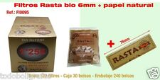 Caja de 50 BOlsas filtros Rasta Bio + Papel natural 78mms. en cada bolsa. NUevos