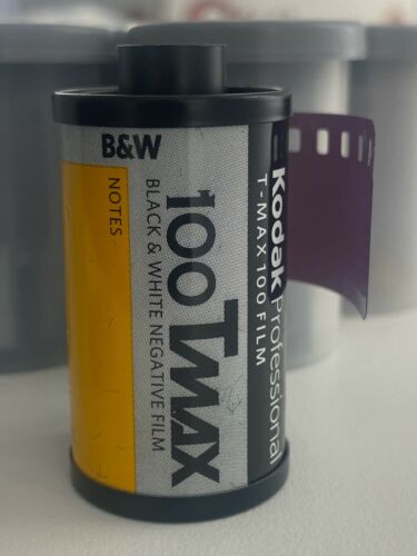 Kodak T-Max 100 B/&W Film 35mm-36 Exp Generic Packaging x10 Rolls