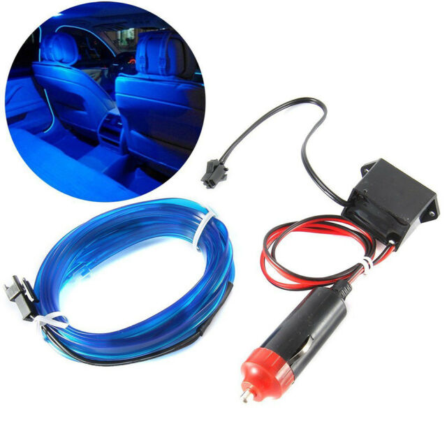 2M 12V EL Wire BLUE Cold light lamp Neon Lamp Car Atmosphere Lights Unique Gift