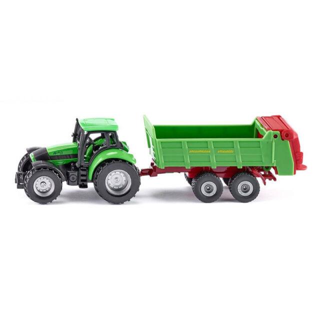Siku 1673 Deutz Tractor with Strautmann Universalstreuer Green New! °