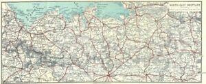 Carte Bretagne Lamballe.Details Sur Bretagne Lamballe A Avranches North East 1923 Ancienne Vintage Carte Plan Graphique Afficher Le Titre D Origine