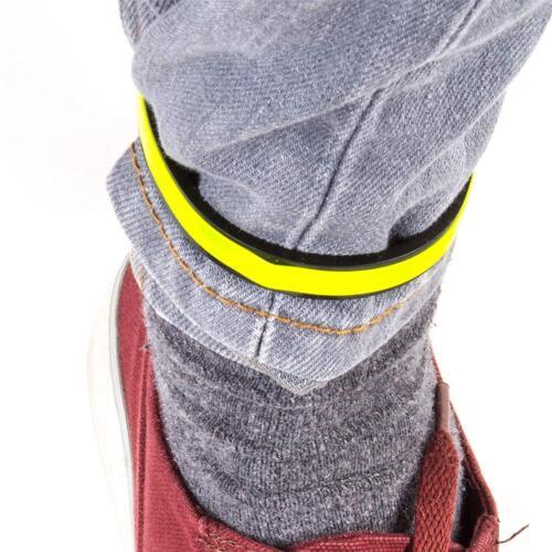 2 X Réfléchissant Cyclisme Pantalon Clips Hi-Vélo Vis Sécurité Cheville Wrap