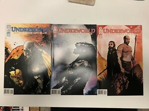 IDW UNDERWORLD : RED IN TOOTH & CLAW #1, #2 & #3 : 3-ISSUE BUNDLE : NM CONDITION