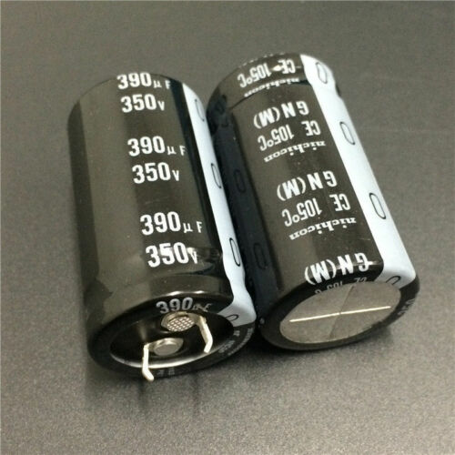 8pcs 350V 390uF 350V Japan Nichicon GN 25x45mm PSU Snap-in Capacitor