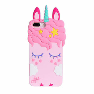 Cartoon Disney Cute Girls Unicorn Soft Dropproof Cover Case For I Phone Samsung by Ebay Seller