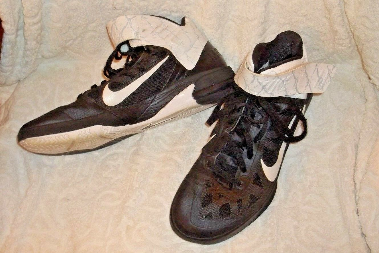 Men's Black/white/gray NIKE Max Air High Top Sneakers size 13