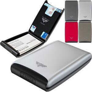 TRU-VIRTU-Silk-Aluminium-Visitenkarten-Kreditkartenetui-EC-Karten-Etui-Huelle-NEU