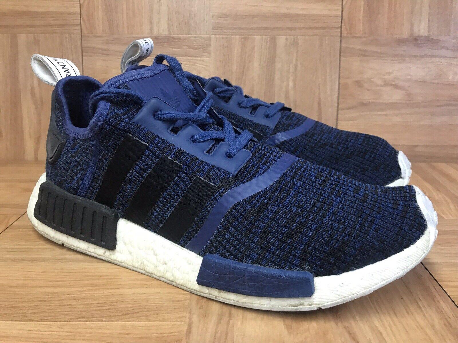 RARE Adidas Originals NMD_R1 Navy bluee Black White BY2775 Sz 10 Men's shoes