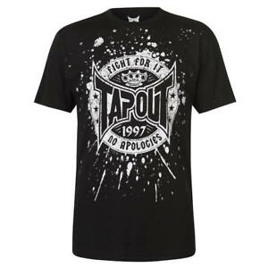 Mens Branded Tapout Stylish Printed Logo Short Sleeves Core T Shirt Size S-XXL