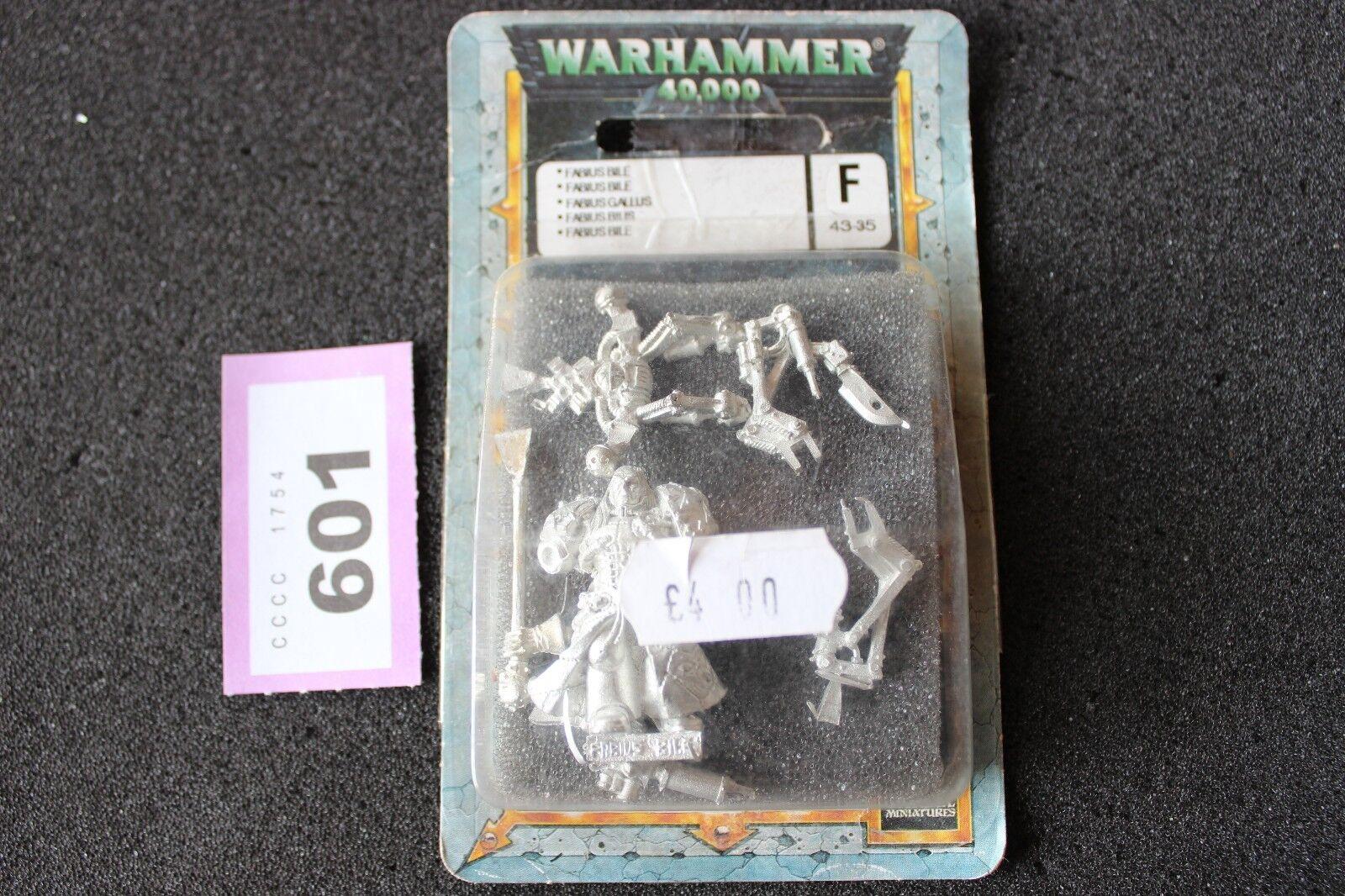Games Workshop Warhammer 40k Chaos Space Marines Fabius Bile NIB GW Metal OOP