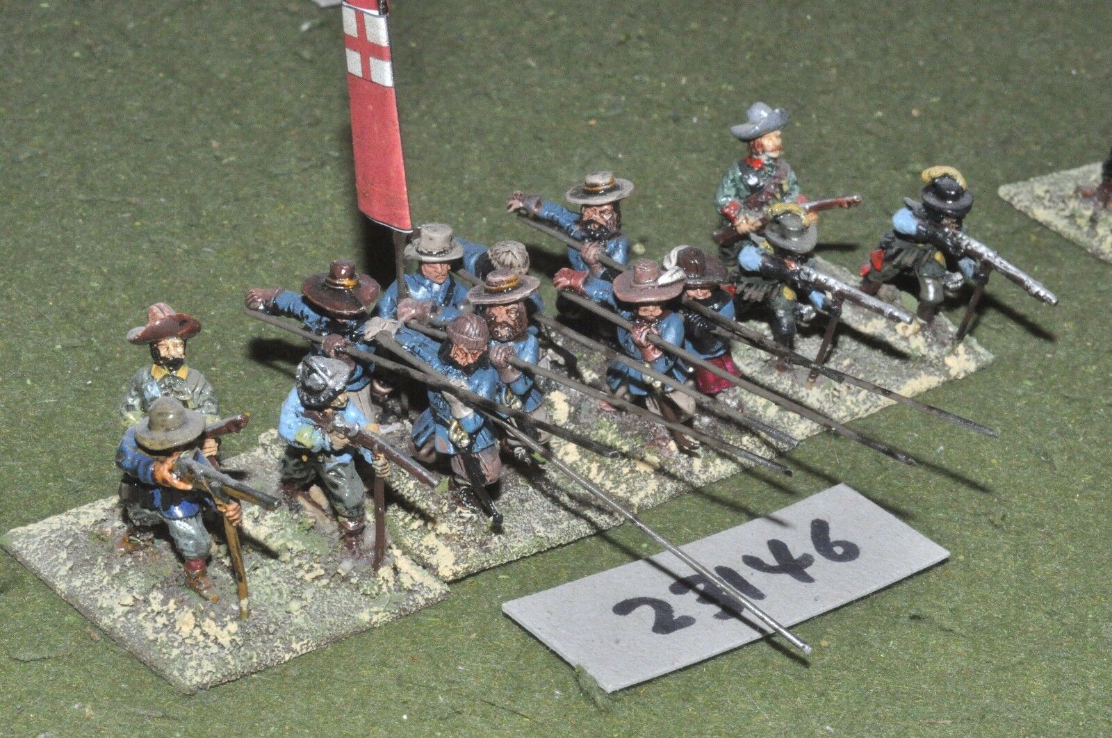 25mm ECW   parliament - pike & shot 14 figures - inf (23146)
