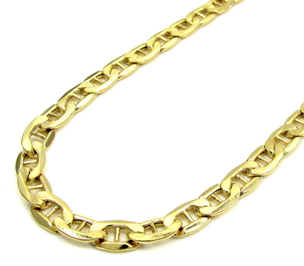 10k Real Yellow Gold 6mm Mens Womens Gucci Mariner Link