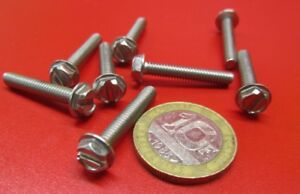 """18-8 Stainless Hex Washer Head Slotted Machine Screw 8-32 x 1.0"""", 100 pcs"""