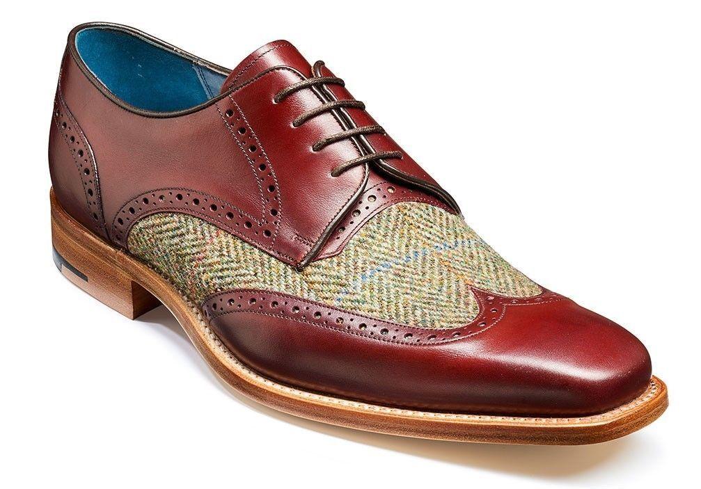 Homme Fait à la main Bordeaux Toile Chaussures formelles semelle en cuir et chaussures à talon