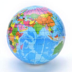 Earth-Globe-Stress-Relief-Bouncy-Foam-Ball-Kinder-Weltatlas-Geographie-KartRSDE
