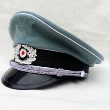 WW2 WWII GERMAN WH M36 OFFICER WOOL CRUSHER HAT MILITARY VISOR CAP SIZE L