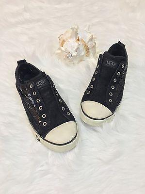 UGG Australia Laela sneakers size 7.5 black women Sparkles Sequin Slip on shoes