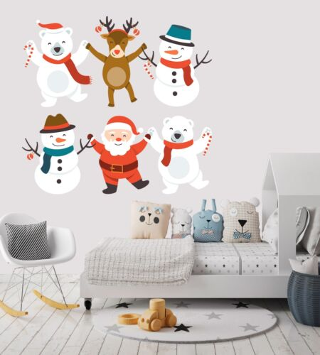 3D Christmas Xmas Party Prom 2 Wallpaper Murals Floor Wall Print Wall Sticker AU