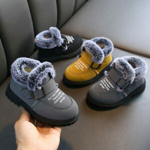 Toddler-Baby-Winter-Kids-Boy-Girls-Boots-Shoes-Plush-Soft-Sole-Snow-Booties-Shoe