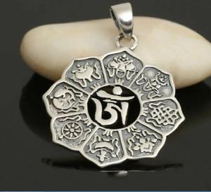 Details about Om Aum Pendant Buddhist Symbol Buddha Sterling Silver 925  Peace Tibetan Mini Ohm