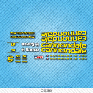 Stickers Cannondale CAAD5 Bicycle Decals Yellow n.7 Transfers