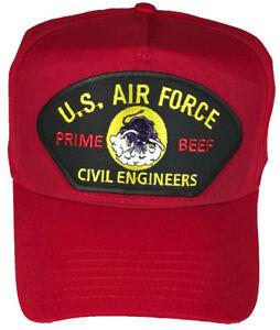 Usaf Air Force Prime Beef Veteran Hat Charging Charlie Red