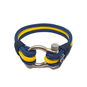 Nautical-Rope-Bracelet-Sailing-Mens-Womens-Handmade-Summer-bracelet-BLUE-YELLOW