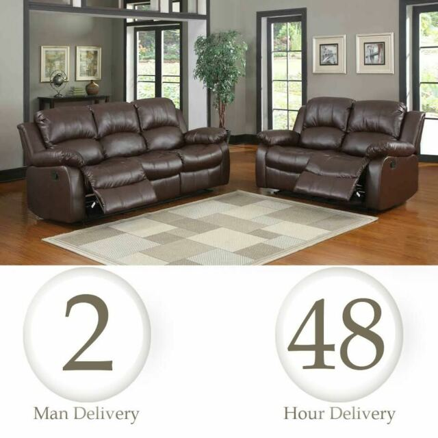 Pleasing Leather Recliner 1 2 3 Seater Sofa Brown Grey Black Couches Set Suite Frankydiablos Diy Chair Ideas Frankydiabloscom
