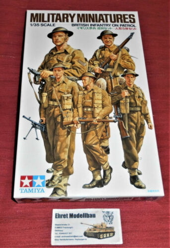 WWII british Infantry on Patrol 5 Figuren 1:35 Tamiya 35223 Neu