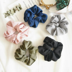 Women-Hair-Rope-Trendy-Lady-Hair-Scrunchie-Ring-Elastic-Pure-Color-Bobble-Hot-YF