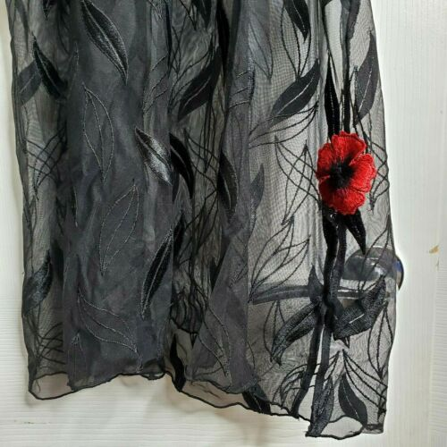 10-12 New W//out tag Simone Perele Granada Black /& Red Underwired Chemise