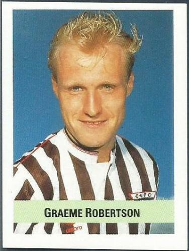 THE SUN SOCCER 1990//91 #344-DUNFERMLINE ATHLETIC-GRAEME ROBERTSON