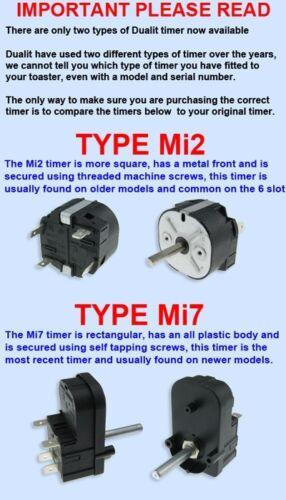 MINUTE RUN BACK TIMER Type Mi2 NEW GENUINE ORIGINAL DUALIT TOASTER PART 4 FOUR